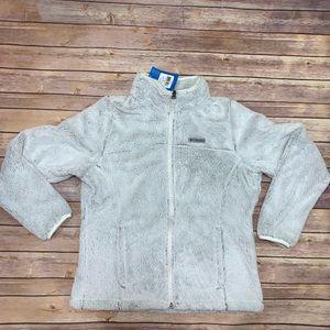 Columbia Cloudy Day Fleece Full Zip Grey/White